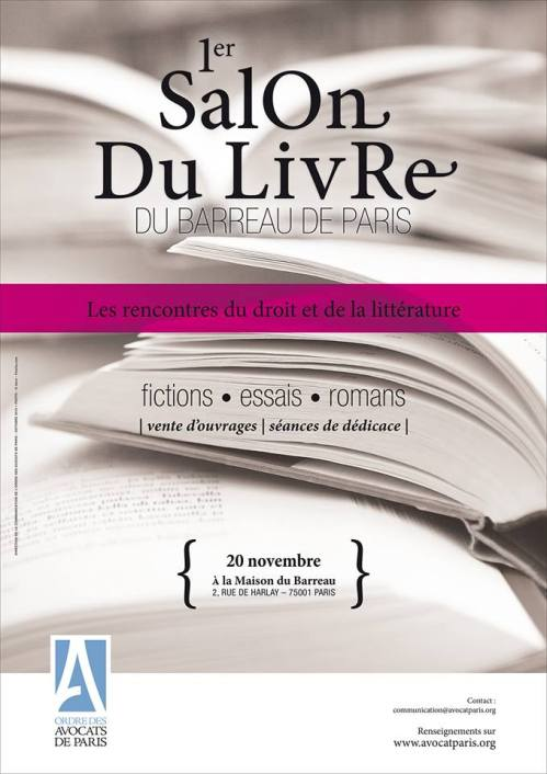 Visuel Salon du livres du Barreau de Paris